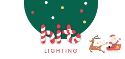 히트조명이 자사 홈페이지를 통해 진행하는 8월의 크리스마스 이벤트 로고