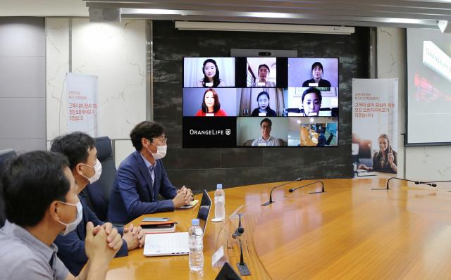 오렌지라이프가 2020 고객 컨설턴트 온택트 발대식을 개최했다
