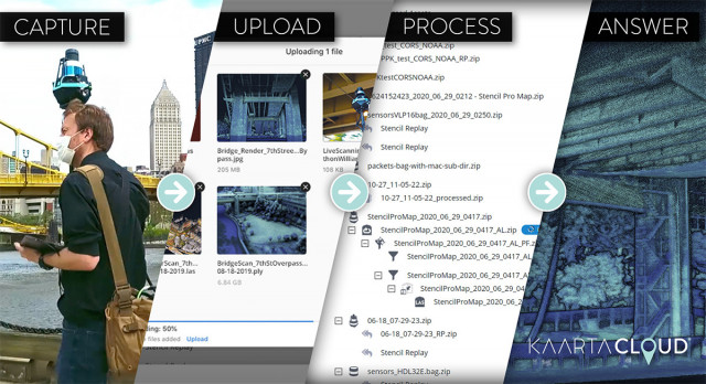 카르타 클라우드 워크플로우는 벨로다인 라이다 센서를 이용해 작업을 최적화하고 캡처된 스캔으로부터 최댓값을 추출하도록 설계됐다