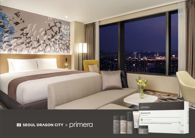 호텔 서울드래곤시티가 클린 뷰티 브랜드 프리메라와 함께하는 뷰캉스 패키지를 출시했다