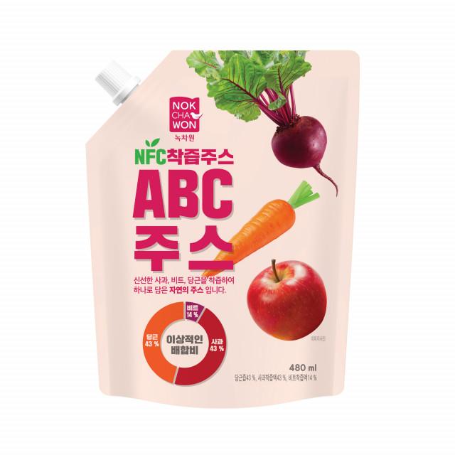 녹차원이 NFC 착즙주스인 ABC 주스를 출시했다