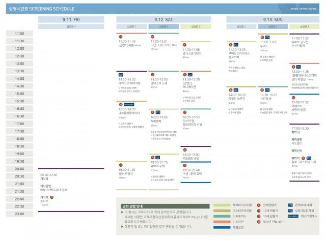 2020 국제무형유산영상축제 상영 시간표
