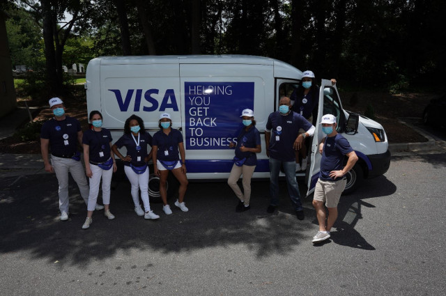 Visa Street Teams have already visited more than 185,000 small businesses in 66 U.S. cities and 15 m...
