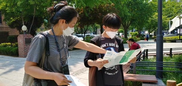 청소년환경봉사단 '숲틈' 대학로 현장 활동