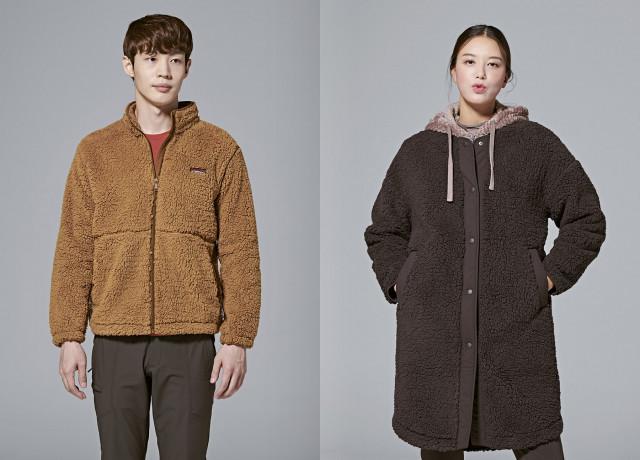왼쪽부터 레드페이스 소프트 보아 웜 재킷과 소프트 보아 웜 라운드 롱 우먼 재킷