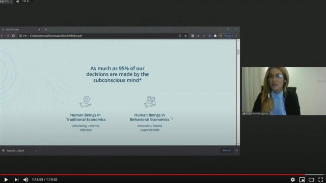 10월 21일 열린 한-중남미 스타트업 파트너십 프로토타입 언팩 행사의 유튜브 스트리밍 방송 화면 캡처. 아르헨티나 스타트업 로빈테스트에서 온라인을 통해 기술 및 솔루션을 소개하고...
