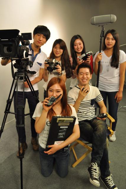 백제예술대 방송연예과 학생들