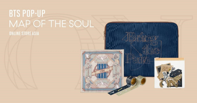 BTS' new pop-up store BTS POP-UP : MAP OF THE SOUL ONLINE STORE ASIA has launched across seven count...