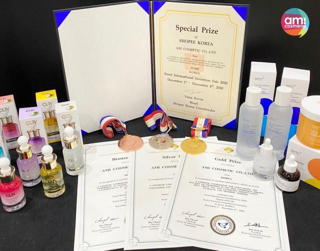 아미코스메틱이 2020 서울국제발명전시회에서 수상 4관왕을 기록했다