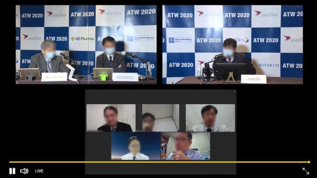 아이쿱 컨퍼런스를 통해 좌장과 연사들이 실시간으로 토론하고 있다
