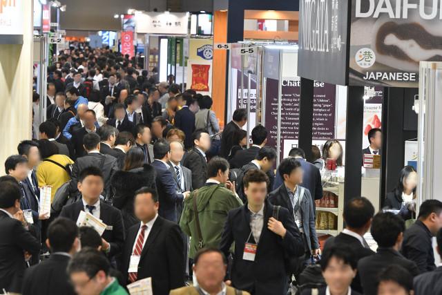 일본 식품 무역 전시회 전시장