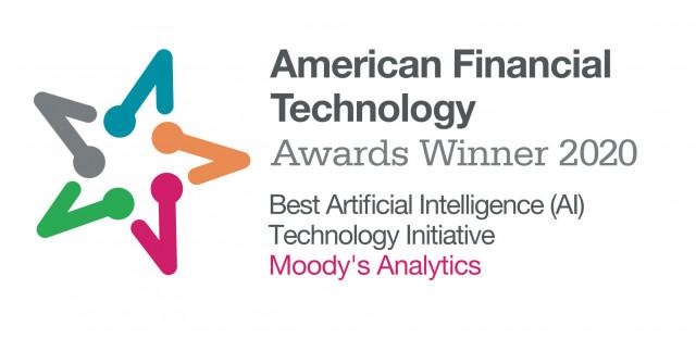 무디스 애널리틱스가 2020 아메리칸 파이낸셜 테크놀로지 어워즈에서 우수 AI 테크놀로지 이니셔티브상을 수상했다
