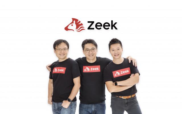 지크 공동 창립자(왼쪽부터): 클리프 체 CTO, KK 츄 최고 경영자, 빈센트 판 CSO