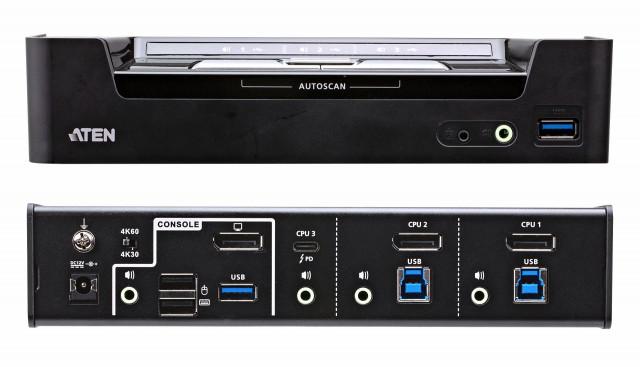 3-포트 USB-C DisplayPort 하이브리드 KVMP 스위치 CS1953