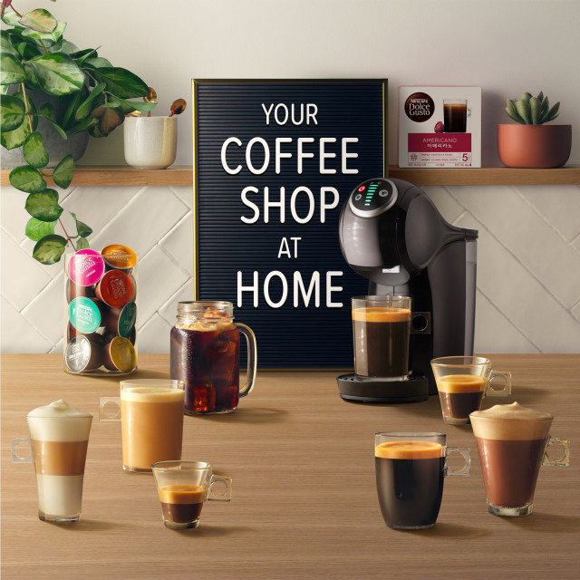 네스카페 돌체구스토가 새해를 맞아 카페에서 즐기던 고퀄리티 커피를 집에서 그대로 즐길 수 있는 유어 커피숍 앳홈 캠페인을 실시한다