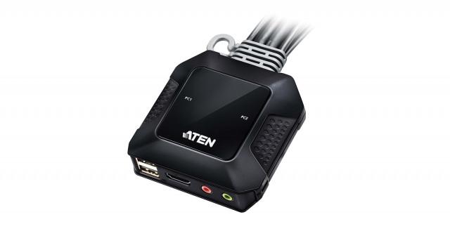 에이텐은 USB 4K HDMI 케이블 KVM 원격 포트 CS22H 스위치를 공개했다
