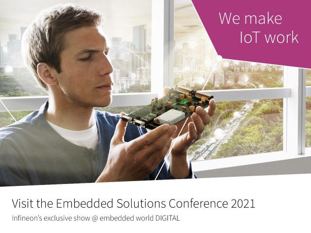 인피니언이 버추얼 임베디드 솔루션 콘퍼런스 2021에서 IoT를 구현하는 포괄적인 포트폴리오를 전시했다