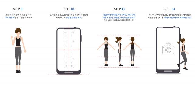 사이즈잇 촬영 방법 소개