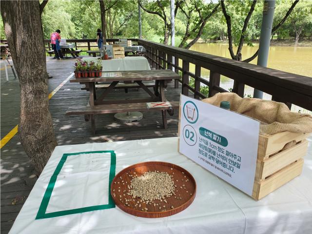 서울숲공원에서 셀프로 가드닝을 체험하고 식물을 가져가는 셀프가드닝 프로그램을 진행할 예정이다