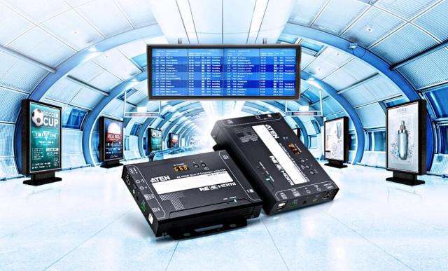 에이텐이 출시한 디지털사이니지 송·수신기 4K HDMI over IP VE8952