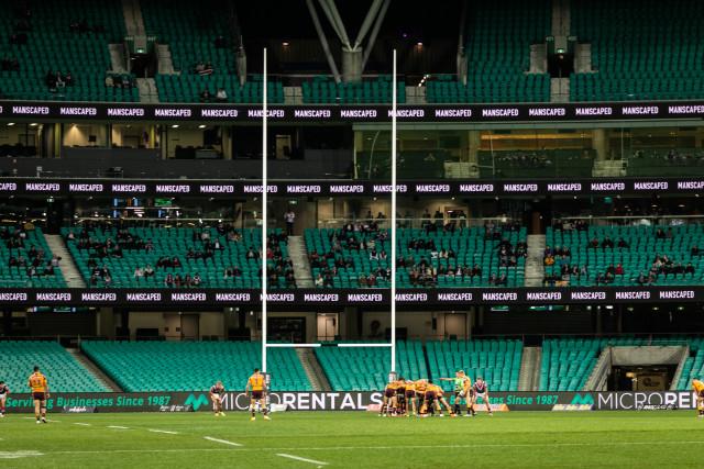 시드니 루스터스의 홈구장은 호주의 가장 활기찬 도시 중 하나이자 중심 상업 지구인 크리켓 그라운드에 위치한다 3층 높이의 맨스케이프드 로고가 분위기를 고조한다