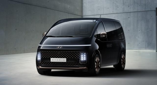 현대자동차가 공개한 '스타리아' 외장 디자인