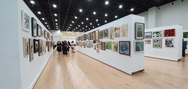 2020년 제25회 아름다운 눈빛미술제가 열린 울산 중구문화의전당