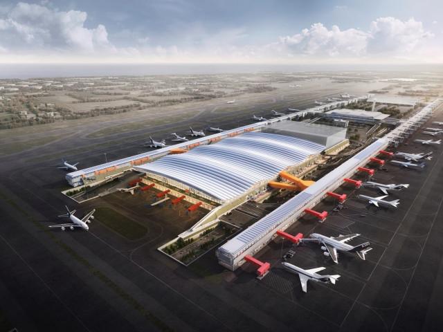 삼성물산이 공개한 대만 타오위안 국제공항 제3터미널 조감도