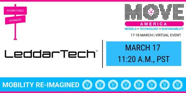 Move America 2021에 참가하는 LeddarTech. '코로나19에도 불구하고 계속 발전하는 AD 기술, 이 같은 발전과 팬데믹 상황이 스마트 시티 전략에 미치는 영향'...