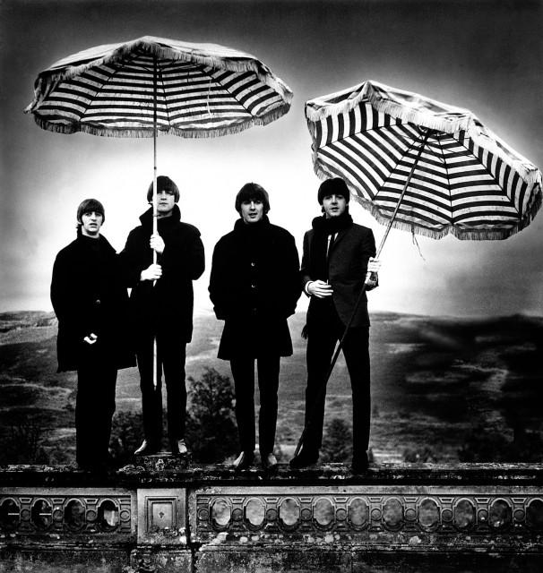 Umbrellas, 20th Oct. 1964, Perthshire, Scotland, 68.4×72.4 cm, Photographer: Robert Whitaker
