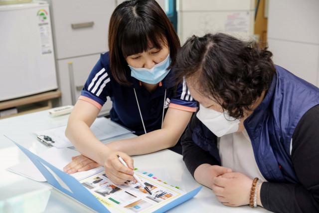 서울장애인종합복지관에서 이뤄지는 건강 상담