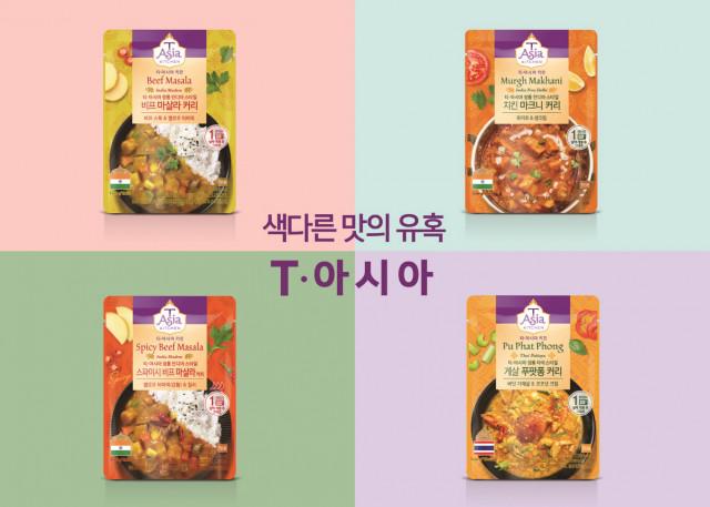 티·아시아 키친이 출시한 아시아 인기 커리 4종