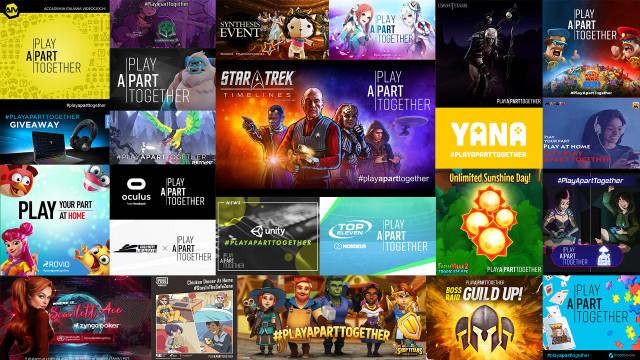 게임 업계가 #PlayApartTogether 캠페인 출범 1주년을 맞아 과거를 회상하고 추후의 계획을 다진다