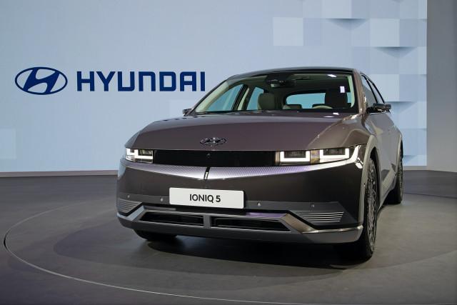 현대자동차가 2021 상하이 국제 모터쇼에서 공개한 아이오닉 5