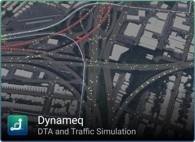 Dynameq(www.inrosoftware.com/dynameq)가 SFCTA(www.sfcta.org/)의 데이터를 사용하여 제공한 이미지