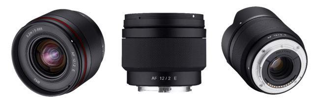 소니 APS-C 대응 AF 12mm F2 E는 세계 최초의 APS-C E마운트 자동초점 12㎜ 렌즈다