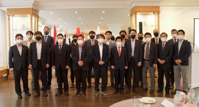 밀레니엄힐튼 서울에서 열린 2021 P4G 서울 정상회의 부대 행사 'Offshore Wind Korea, 12GW and Beyond'에 현장 참가한 주한덴마크대사관, 주한네덜란...