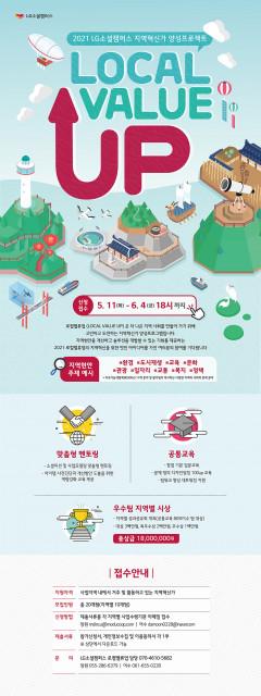 LG소셜캠퍼스 2021 로컬밸류업 포스터