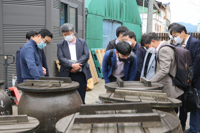 충남 논산 양촌양조장에서 열린 현장 간담회