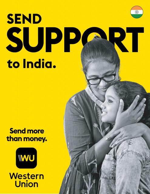 웨스턴 유니온이 인도에 코로나19 구호를 지원한다