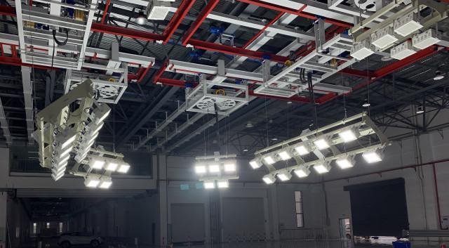 중국 자동차 연구·시험 기관에 설치된 비솔의 고속 촬영용 특수 조명 시스템
