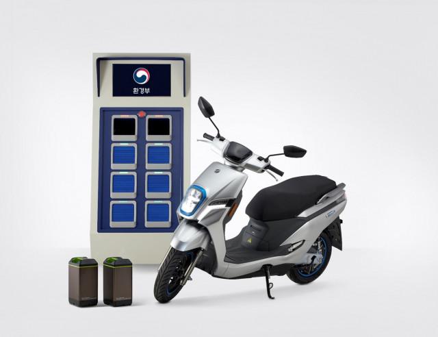 전기이륜차 배터리 교환 스테이션과 전기이륜차 EM-1S
