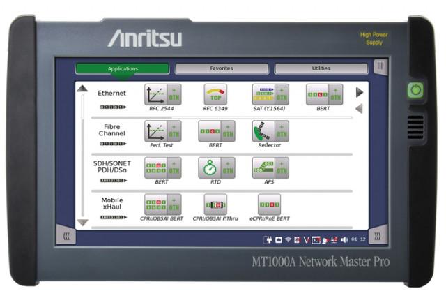 안리쓰의 Network Master Pro MT1000A는 SyncE Wander 및 PTP 테스트를 최대 25Gbps까지 지원한다