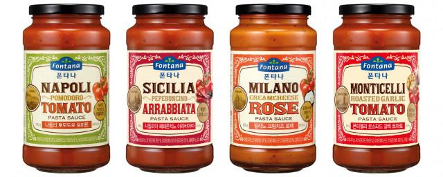 폰타나가 출시한 대용량 토마토 파스타 소스 4종
