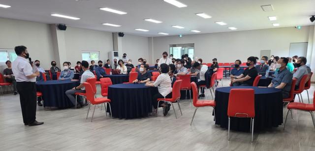 차별화된 고기 '미트각'을 시중에 유통할 유통사업 발대식이 6월 12일 충남 금산 세븐레포츠 세미나실에서 개최됐다