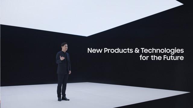 삼성전자 네트워크사업부장 전경훈 사장이 '삼성 네트워크 : 통신을 재정의하다' 행사에서 신규 5G 솔루션을 소개하고 있다