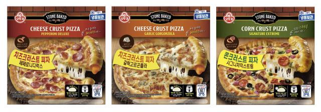 오뚜기가 출시한 크러스트 피자 3종