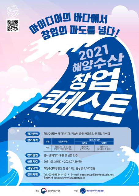 2021 해양수산 창업 콘테스트 포스터