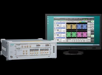 MP2110A는 25G~800G 광 모듈의 제조 평가에 적합한 측정기로, 4 채널의 샘플링 오실로스코프(아이 패턴 분석)로 BERT(비트 오류율 측정)을 1 케이스에 통합할 수 있...