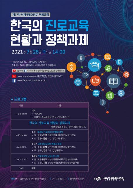 제77차 인재개발(HRD) 정책포럼 포스터